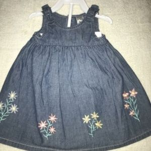 CARTER'S BABY GIRL Embroidered Chambray Dress